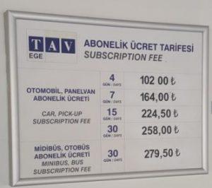 Preise Parkplatz Flughafen Izmir
