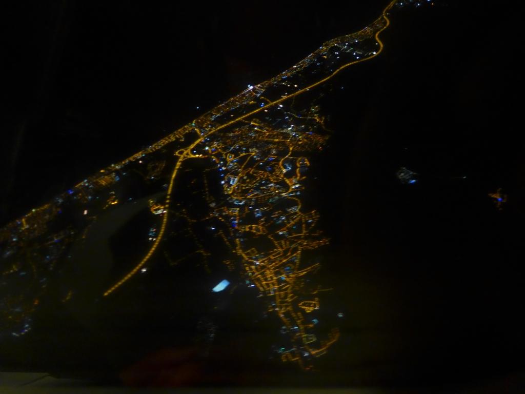 Blick auf Izmir und Umgebung aus dem Flieger